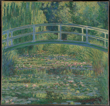 Claude Monet's The Water-Lily Pond, 1899, is part of the exhibition.