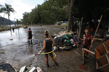 Cleaning up after the big floods in the Hawkesbury Region in March this year.