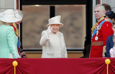 The Queen was in high spirits.