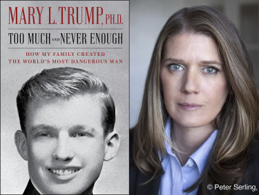 Mary Trump, the President's niece, and the cover of her tell-all book.