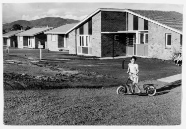New houses in O'Connor, Canberra, September 8, 1958. Part of the Fairfax photographic archive recently acquired by Canberra Museum and Gallery.
