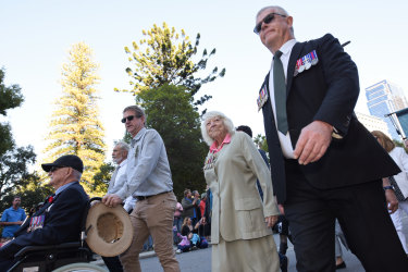 The march is a big part of the Anzac Day celebrations.