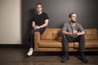 Robbie Ferguson, left, and his brother James are founders of Immutable.