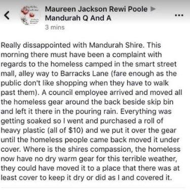 Mandurah in hot water after local homeless find belongings