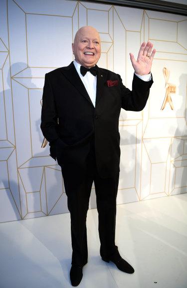 Bert Newton in the media room  at the TV Week Logie Awards.