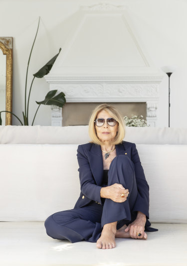 Carla Zampatti photographed at her home in Woollahra. May 11, 2020.