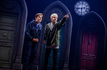 Sean Rees-Wemyss as Albus Potter and William McKenna as Scorpius Malfoy.