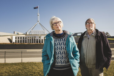Jan Clifford and Geoff Millar want the right to debate the introduction of voluntary euthanasia laws in Canberra.