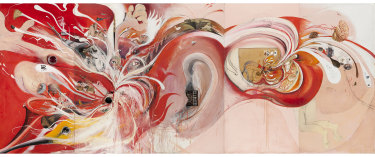 Brett Whiteley's The American Dream (1969-69) which was installed at the National Gallery of Victoria in 2018.