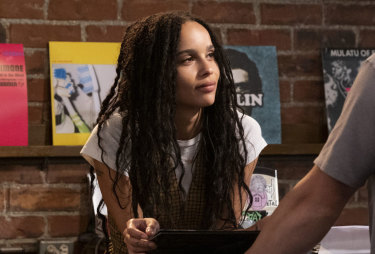 Zoe Kravitz in <i>High Fidelity</i>.