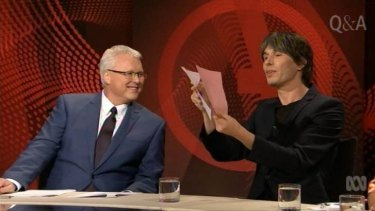 Rock star physicist Brian Cox with Tony Jones.