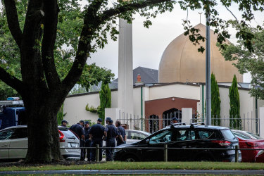 The Al Noor Masjid  mosque, the scene of the mass shooting in Christchurch.