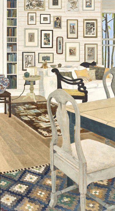 Interior with Cat by Cressida Campbell.