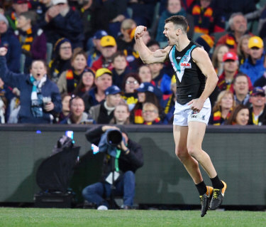 Fans will be in the stands when the Power face the Crows on Saturday night.