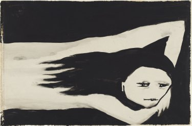 Joy Hester, Girl, 1957, brush and ink on paper, National Gallery of Australia, Canberra, purchased 1972.