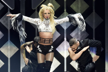 "Young female stars like Britney Spears (pictured in 2016) are branded ""damaged goods"" when they become embroiled in a scandal."