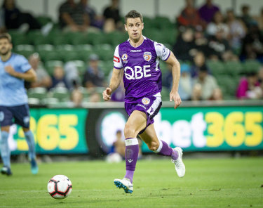 Moving on up: Sydney FC reject Joel Chianese has enjoyed a career-best season with Perth Glory.