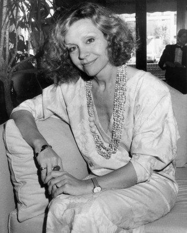 Carla Zampatti at a fashion show in Kingston, Canberra, August 21, 1985.