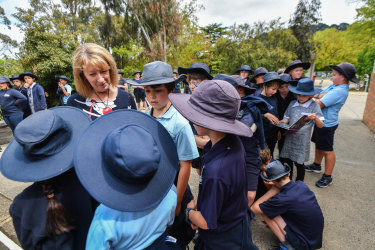 "Woodend Primary School principal Diana Ellis says people are ""loving this idea of getting your gumboots on and free-ranging."""