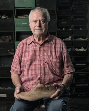 Karandonis began his shoemaking apprenticeship at age 13 in Crete. When he arrived in Australia decades later, 'I had the willingness to teach,' he says.