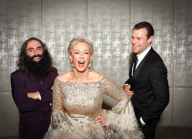 Also rans: Costa Giorgiadis, Amanda Keller and Rodger Corser were all nominated for this year's Gold Logie.