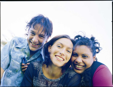 From left to right, Evan (Samuel Johnson), Alex (Claudia Karvan) and Kelly (Deborah Mailman) in The Secret Life of Us.