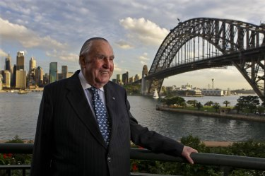 Bill Waterhouse at his home in Kirribilli in May 2010.