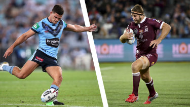 Nathan Cleary's lethal right boot will be pressured by Maroons prop Christian Welch.