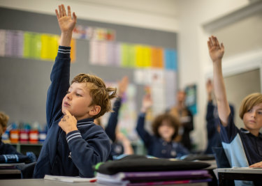 Students at Chelsea Primary School learn to read using synthetic phonics.