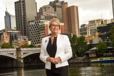 Sally Capp is one of the frontrunners in the race to be Melbourne's new lord mayor.