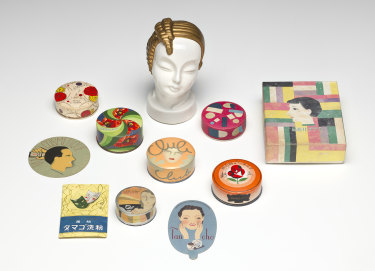 A selection of 1930s cosmetics from <i>Japanese Modernism<i>.
