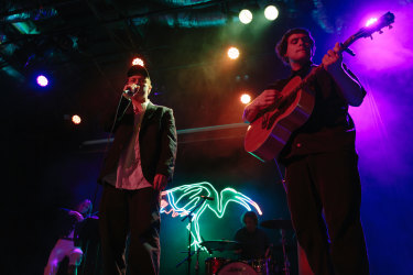 Rock band DMA's played 18 socially-distanced shows over nine nights at Marrickville's Factory Theatre