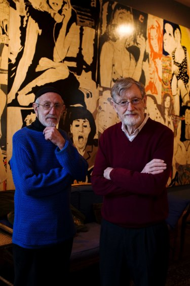 Frank Watters (left) and Geoffrey Legge made their gallery feel like an extended family rather than a business.