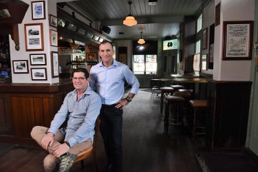 Daniel and Zelman Nissen, owners of the historic The Glebe Hotel (formerly Australian Youth Hotel).