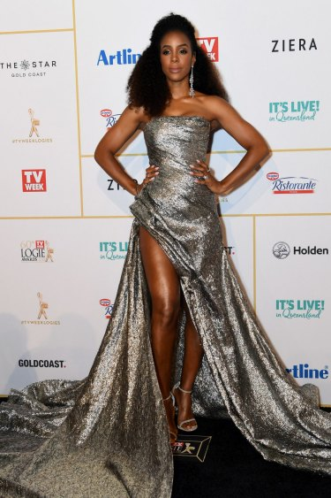 Kelly Rowland arrives at the 2018 Logie Awards at The Star Casino on the Gold Coast.
