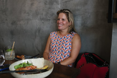 Daisy Turnbull at drinks and early dinner at Van Expresso Bar in Coogee.