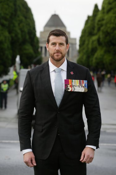Ben Roberts-Smith, VC, MG at the ANZAC Day parade in Melbourne earlier this year.