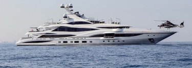 A recently completed 90-metre Benetti gigayacht. Packer's new cruiser will be 17 metres longer.