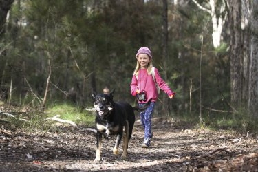 Rosella Ball taking a walk with Charlien in the Dalmeny location that is set to be developed after the  Eurobodella Council pushed through the sale of the 40-hectare block just weeks before its pre-election caretaker period began.