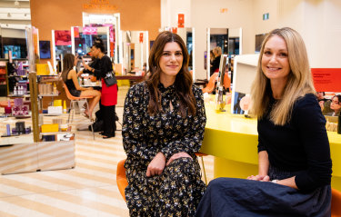 Naturopath Anthia Koullouros, left, and fertility expert Jenna McDonald, right, have been offering advice at Mecca Cosmetica's flagship store, in Sydney.