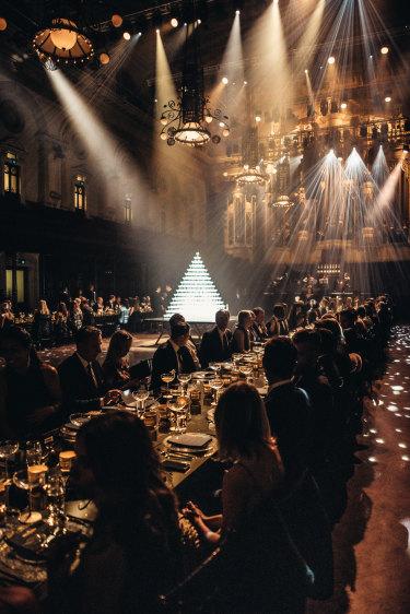 A lavish affair, the Sydney Town Hall transformed for Moet's 150th birthday.