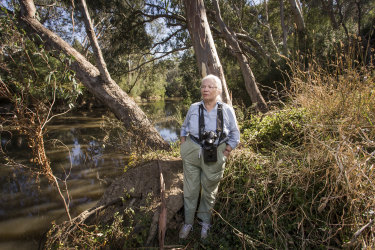 78-year-old Anthea Fleming has been a conservationist in the parkland and wetlands surrounding the North East Link since the 1970s.