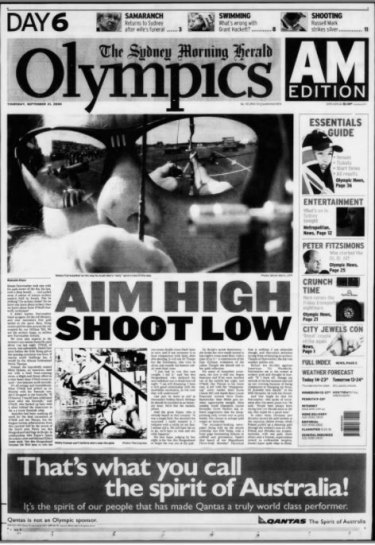 How the Herald reported Simon Fairweather's progress in the archery.