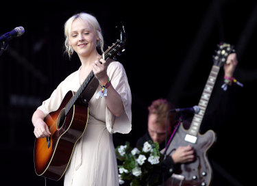 Laura Marling performing at 2017's Glastonbury Festival.