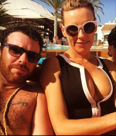 Phillip De Angelis and Nellie Tilley in Ibiza in 2015.