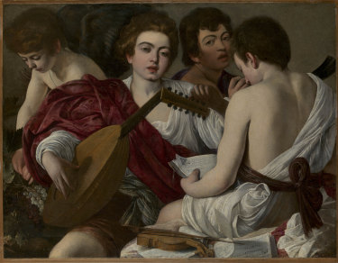 Caravaggio: The Musicians, 1597. Oil on canvas.