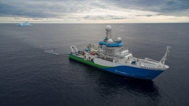 The CSIRO vessel, Investigator, heading to do research in Antarctica.