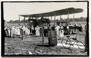 The Vickers-Vimy aeroplane manned by Captain Ross Smith and his companions in Australia in December 1919.