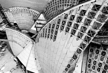 Opera House roof geometry, 1966.