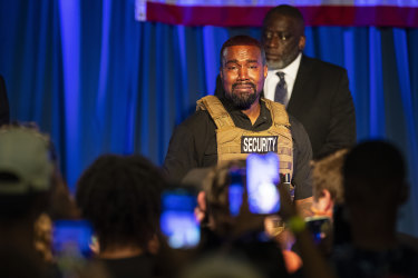 Kanye West makes his first presidential campaign appearance in North Charleston.